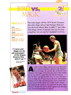 Larry Bird and Magic Johnson 1979 NCAA Championship 1994 Sports Heroes album page