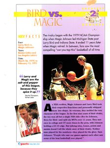 Larry Bird vs. Magic Johnson 1979 NCAA Championship 1994 Sports Heroes album page