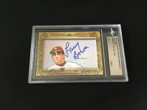 Larry Bowa 2018 Leaf Masterpiece Cut Signature certified autograph card 1/1 JSA