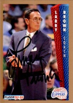 Larry Brown autographed 1992-93 Fleer card