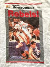Larry Johnson autographed UNLV Runnin' Rebels 1990 NCAA National Championship T-shirt