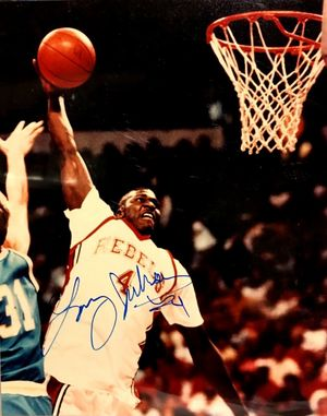 Larry Johnson autographed UNLV Rebels Runnin' Rebels 8x10 photo
