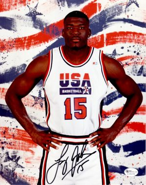 Larry Johnson autographed USA Basketball Dream Team 2 8x10 photo