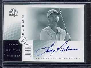 Larry Nelson certified autograph 2001 SP Authentic golf card