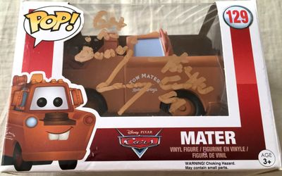 Larry the Cable Guy autographed Mater Cars Funko Pop inscribed Git-R-Done (JSA)