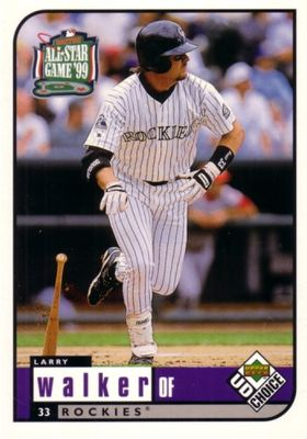 Larry Walker Colorado Rockies 1999 Upper Deck All-Star Game jumbo card