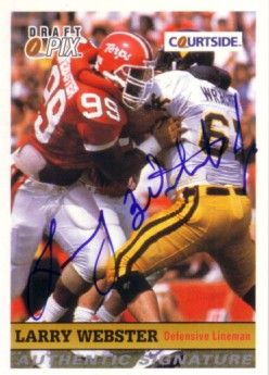 Larry Webster certified autograph Maryland Terrapins 1992 Courtside card