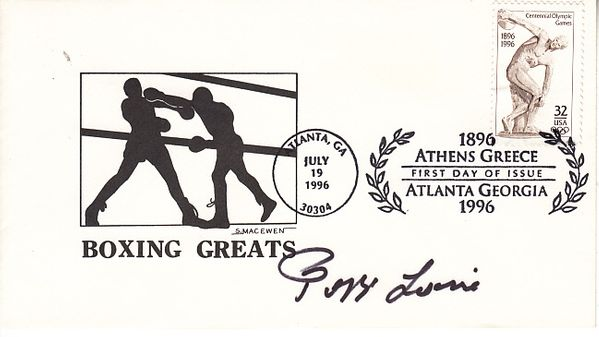 Laszlo Papp autographed Boxing Greats cachet 1996 Olympic Games First Day Cover