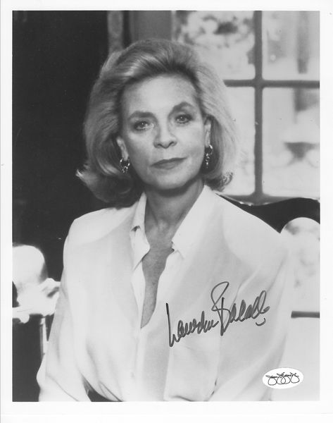 Lauren Bacall autographed 8x10 portrait photo (JSA)