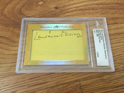 Laurence Olivier 2017 Leaf Masterpiece Cut Signature certified autograph card 1/1 JSA
