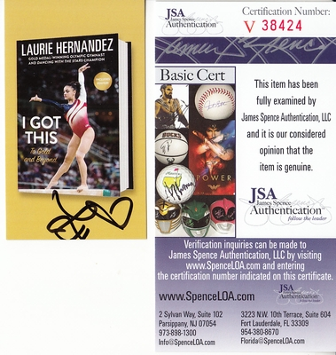 Laurie Hernandez autographed I Got This book promotional card (JSA)