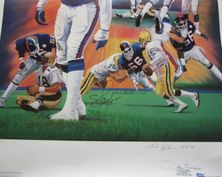 Lawrence Taylor autographed New York Giants 1994 lithograph #44/300