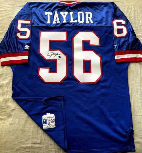 Lawrence Taylor autographed New York Giants 1991 authentic Starter game model blue jersey (JSA)