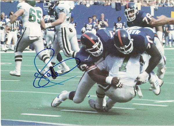 Lawrence Taylor autographed New York Giants 1986 calendar page photo