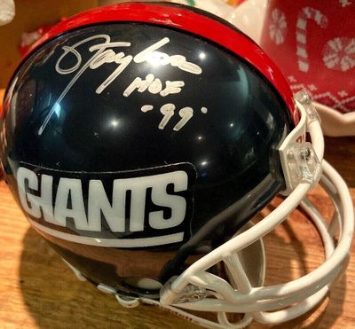 Lawrence Taylor autographed New York Giants Riddell throwback mini helmet inscribed HOF 99