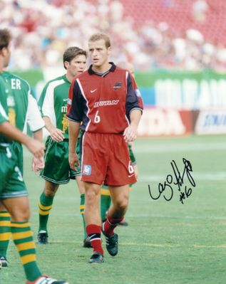 Lazo Alavanja autographed MLS Dallas Burn 8x10 photo