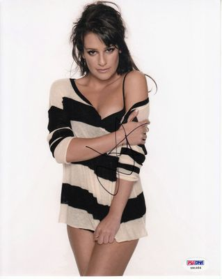 Lea Michele autographed sexy 8x10 photo (PSA/DNA)