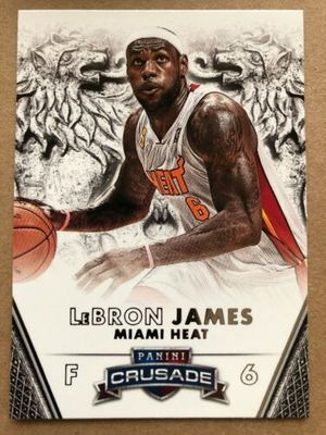 LeBron James Miami Heat 2013-14 Panini Crusade card #62