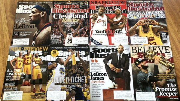 LeBron James lot of 8 Cleveland Cavaliers Sports Illustrated issues (2009 2014 2015 2016)