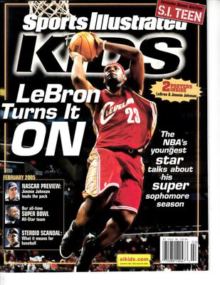 LeBron James Cleveland Cavaliers February 2005 Sports Illustrated for Kids magazine with foldout poster
