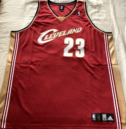 LeBron James Cleveland Cavaliers Adidas 2003-04 ROOKIE SEASON red game model jersey NEW