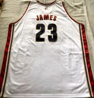 LeBron James Cleveland Cavaliers Adidas 2003-04 ROOKIE SEASON white game model jersey NEW
