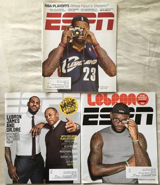 LeBron James lot of 3 different ESPN Magazine issues