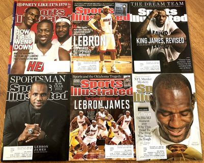 LeBron James lot of 6 Miami Heat Sports Illustrated magazine issues (2010 2012 2013)