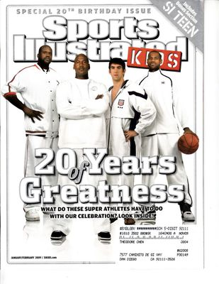 LeBron James Michael Jordan Shaquille O'Neal Michael Phelps 2009 Sports Illustrated for Kids magazine