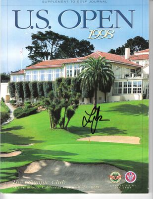 Lee Janzen autographed 1998 U.S. Open golf program