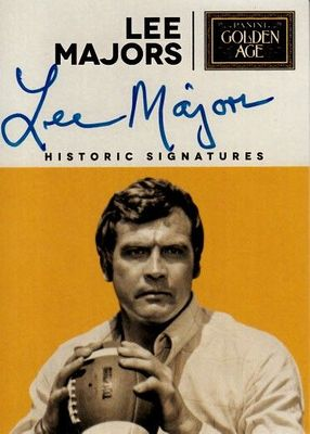 Lee Majors certified autograph 2014 Panini Golden Age card
