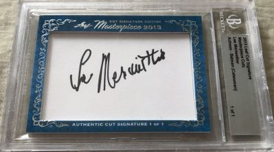 Lee Meriwether 2013 Leaf Masterpiece Cut Signature certified autograph card 1/1 Catwoman