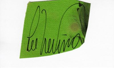 Lee Trevino autograph or cut signature mounted on 3x5 card