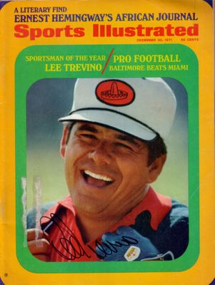 Lee Trevino autographed 1971 Sportsman of the Year Sports Illustrated