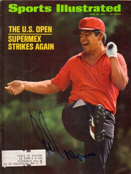Lee Trevino autographed 1971 U.S. Open Sports Illustrated
