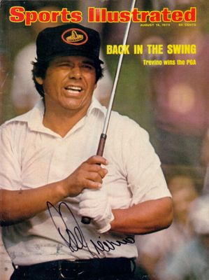 Lee Trevino autographed 1974 PGA Championship Sports Illustrated