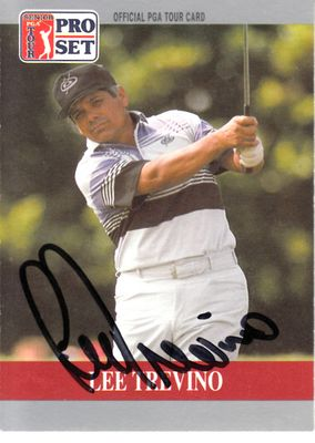 Lee Trevino autographed 1990 Pro Set golf promo or prototype card