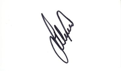 Lee Westwood autographed business card (cut signature) JSA