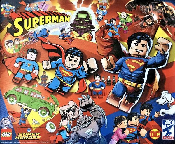 LEGO Superman DC Super Heroes 2018 San Diego Comic-Con 16x20 poster