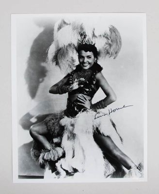 Lena Horne autographed vintage 8x10 black and white publicity photo