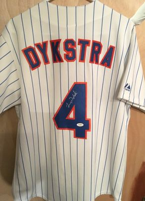 Lenny Dykstra autographed New York Mets authentic Majestic home white jersey (JSA Witnessed)