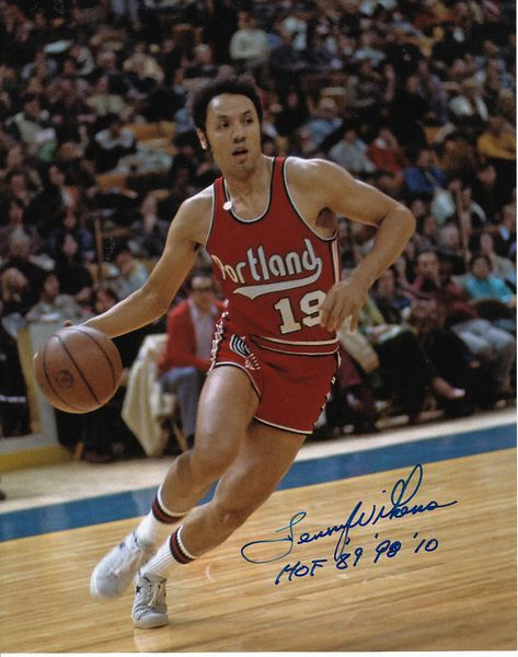 Lenny Wilkens autographed Portland Trail Blazers 8x10 photo inscribed HOF 89 98 10