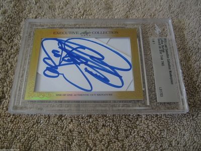 LeVar Burton 2015 Leaf Masterpiece Cut Signature certified autograph card 1/1 Star Trek TNG JSA