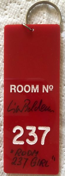 Lia Beldam autographed The Shining movie Room 237 key fob inscribed ROOM 237 GIRL
