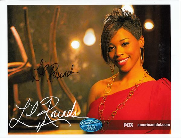 Lil Rounds autographed 2009 American Idol 8x10 photo