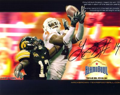 Limas Sweed autographed Texas Longhorns 8x10 photo