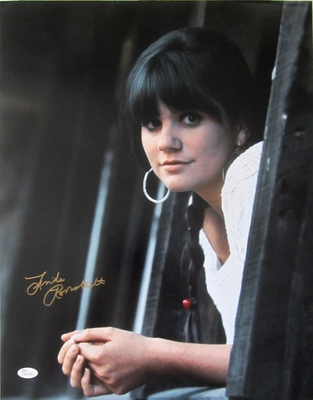 Linda Ronstadt autographed 16x20 poster size portrait photo (JSA Witnessed)