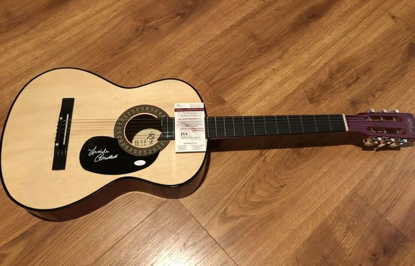 Linda Ronstadt autographed Sawtooth Rise full size acoustic guitar (JSA Witnessed)