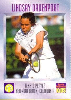 Lindsay Davenport 1997 Sports Illustrated for Kids card
