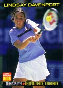 Lindsay Davenport 1999 Sports Illustrated for Kids card